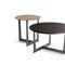 mesa de centro moderna / de fresno / de acero / de mármol