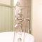 grifo monomando para ducha / para bañera / de pared / de metal cromado