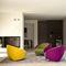 Sillón moderno / de tela / tapizado / con ruedas CART by Joe Colombo Ditre Italia