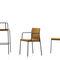 silla moderna / tapizada / con reposabrazos / apilable