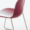silla moderna / tapizada / apilable / patín