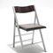 silla moderna / tapizada / plegable / de madera