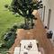 baldosa de exterior / para suelo / de gres porcelánico / 60x60 cm