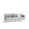 sofá moderno / de exterior / de tejido / de metal