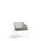 sillón moderno / de tejido / de mimbre / de acero inoxidable