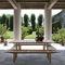 banco de jardín / moderno / de caoba