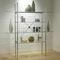 estantería moderna / de metal / de vidrio