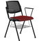 silla de visita moderna / con reposabrazos / tapizada / apilable