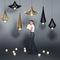 lámpara suspendida / moderna / de aluminio / de vidrio