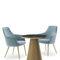 sillón moderno / de cuero artificial / tapizado / para hotel