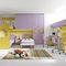 mesilla de noche moderna / de madera / rectangular / para niños