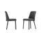 silla moderna / de iroko / de aluminio / de metal pintado