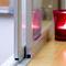 ventana corredera / de aluminio anodizado / eléctrica / de seguridad