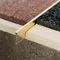 perfil de separación de aluminio / de latón / para baldosas