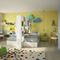 habitación para niños amarilla / de madera lacada / unisex