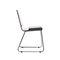 silla de visita moderna / con reposabrazos / patín / con ruedas