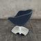 sillón de peluquería de cuero / con base central / giratorio
