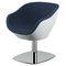 sillón de peluquería moderno / de acero / de cuero artificial / de fibra de vidrio
