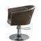 sillón de peluquería moderno / de cuero artificial / con base central