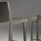silla de bar moderna / tapizada / de cuero / de roble