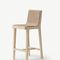 silla de bar moderna / tapizada / de tejido / de roble