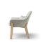 sillón moderno / de cuero / de roble / de tejido