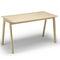 mesa alta moderna / de roble / rectangular