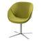 sillón de visita moderno / de cromo / con patas en forma de estrella
