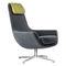 sillón moderno / de acero / con reposapiés / con reposacabezas