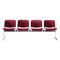 hilera de sillas de acero / 4 plazas / de interior