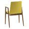 silla de visita moderna / con reposabrazos / tapizada / de madera