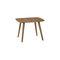 Mesita auxiliar moderna / de madera / redonda / para restaurante SALT 4260 + 4265 by Uwe Sommerlade BRUNE Sitzmöbel GmbH