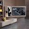 soporte para TV de pared moderno / giratorio / de metal / de madera lacada