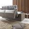 Sofá cama / moderno / de terciopelo / de cuero ELEVEN : AUTOMATIC SOFA BED Divani Santambrogio