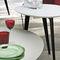 mesa de centro moderna / de metal / de madera lacada / redonda