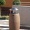 cubo de basura público / de acero inoxidable / de acero galvanizado / de hormigón