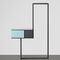 Mesilla de noche moderna / de metal / de MDF / rectangular TECA Quodes