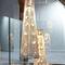 Lámpara suspendida / moderna / de acero inoxidable pulido / halógena FLORAL N°24 Thierry Vidé Design