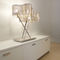 lámpara de mesa / moderna / de acero inoxidable pulido / LED