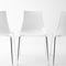 silla moderna / apilable / de metal / de policarbonato