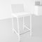 silla de bar moderna / de tejido / de cromo