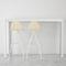 mesa alta moderna / de vidrio templado / rectangular / 100 % reciclable