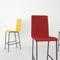 silla de bar moderna / tapizada / de tejido / de acero lacado
