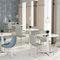 sillón de diseño escandinavo / de tejido / de madera / de acero