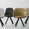 silla de diseño escandinavo / tapizada / de tejido / contract