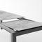 mesa moderna / de MDF / de acero / rectangular