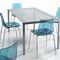mesa de comedor moderna / de vidrio / rectangular / 100 % reciclable