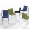 silla moderna / tapizada / de tejido / de metal