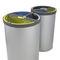 Cubo de basura público / de acero galvanizado / de acero inoxidable / moderno MADRID CERVIC ENVIRONMENT