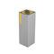 cubo de basura público / de pared / de acero galvanizado / moderno